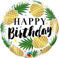 Golden Pineapple Birthday Round