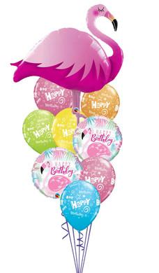 Flamingo Happy Birthday Bouquet