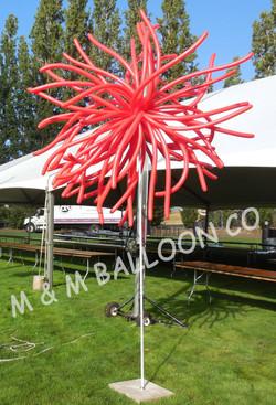 Balloon Blast on a Pole
