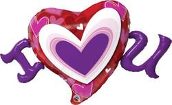 I (Heart) U Radiant Hearts Shape