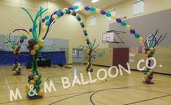Mardi Gras Themed Dance Floor Canopy