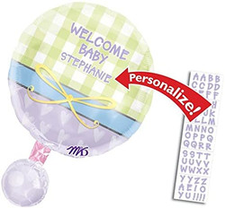 Personalized Welcome Baby Rattle