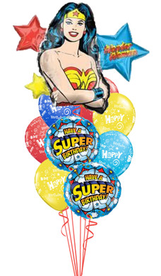 Wonder Woman Birthday Bouquet