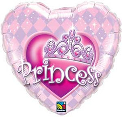 Princess Crown Heart Shape