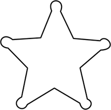 5 Point Star Recessed Badge Holder
