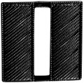 "Captain, Corrugated, Black, 1""H"