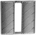 "Captain, Corrugated, Nickel Plated, 1""H"