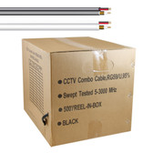 5 Star Cable UL Litsted RG59 Siamese 500 ft. Coaxial CCTV Cable