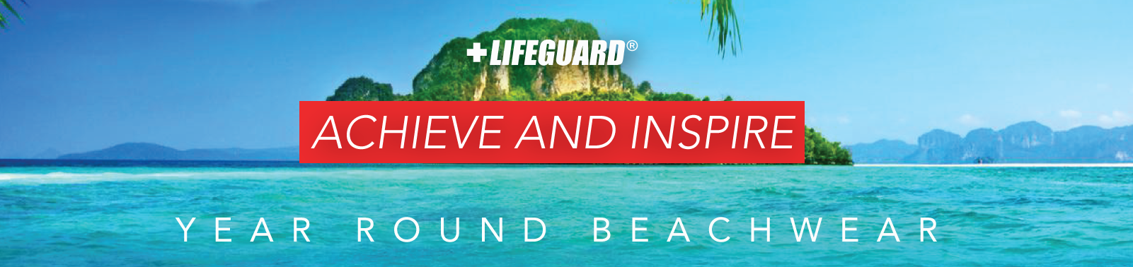 Beach Lifeguard Achieve and inspire - Your round beachwear