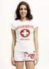 White Ladies Hi-Cut Shorts | Beach Lifeguard Apparel Online Store