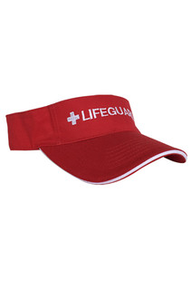 Red Adjustable Sun Visor | Beach Lifeguard Apparel Online Store