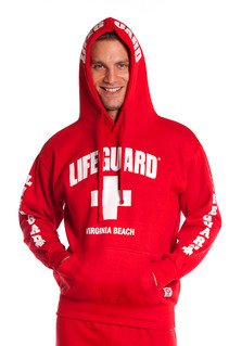 Red Guys Iconic Hoodie | Beach Lifeguard Apparel Online Store