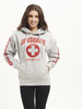 White Gray Ladies Iconic Hoodie   Beach Lifeguard Apparel Online Store
