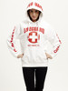 White Ladies Iconic Hoodie   Beach Lifeguard Apparel Online Store
