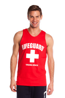 Red The Muscle Tank | Beach Lifeguard Apparel Online Store