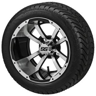 "215/35-12 LSI Elite on ""Type 7"" Machined/Black Wheel"