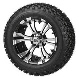 23 x 10.00-14 Duro Desert on Warlock Machined/Black Wheel