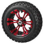 23 x 10.00-14 Duro Desert on Warlock Red/Black Wheel