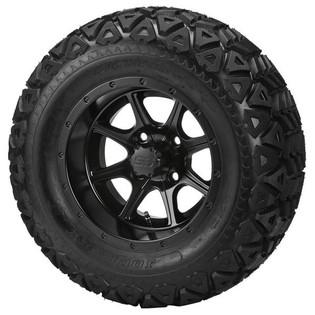 """23 x 10.50-12 Black Trail on """"Type 8"""" Matte Black Wheel"""