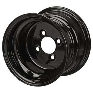 8 x 7 Glossy Black Golf Cart Wheel