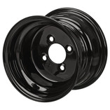 8 x 7 Glossy Black Golf Cart Wheel