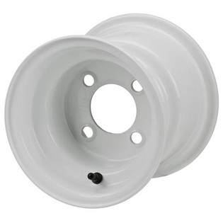 8 x 7 White Golf Cart/Trailer Wheel