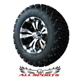"Black/MCH Warlock 12"" with 23"" Black Trail Tires SET"