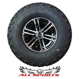 "Black/MCH Yukon 10"" with 22"" Black Trail Tires SET"
