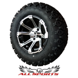 "Black/MCH Rampage 12"" with 23"" Black Trail Tires SET"