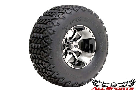 Sti Atx Trail Machine Black Itp Ss112 Golf Cart Wheels Tires