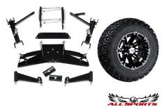 "22"" STI HD3 Machined Tire/Wheel & Club Car DS 6"" A-Arm Combo"