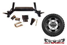 "EZ-Go New Style Drop Axle Lift w/ 10"" SS112 on 22"" STI ATX Trail"