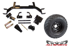 "22"" MOD Tire/Wheel & EZ-Go 5"" Old Style Axle Lift Combo"
