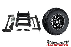 "22"" STI HD3 Gloss Black Tire/Wheel & Yamaha G22 6"" G-Max Lift Combo"