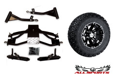 "23-10.5-12 HD3 Machined with Black Tire/Wheel & Precedent 6"" A-Arm Combo"