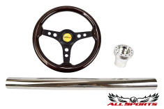 T-Horn Black Three-Spoke Steering Wheel Combo