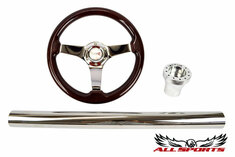 Type R Chrome Three-Spoke Steering Wheel Combo