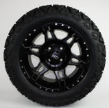 "14"" HD7 Black & Smoke on 23"" Slasher Tires"