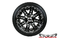 "14"" Megastar on Low Profile Backlash - Black Chrome"