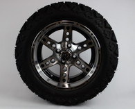 "14"" Machined Chaos on 23"" All Terrain Slasher 4 ply tires"