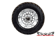 "10"" HD3 on 18"" Duro Scorcher Tires - Silver"