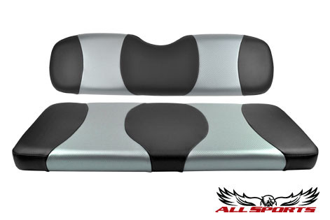 Black & Silver Carbon Fiber