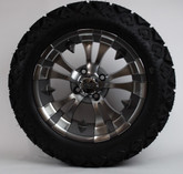 "14"" Gun Metal Warlock Rims on 23X10X14  All Terrain Slasher Tires"