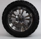 "14"" Gun Metal Warlock Rims on 23X10X14  All Terrain Slasher Tires"