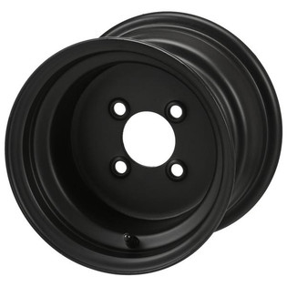 10 x 7 Flat Black Steel Wheel