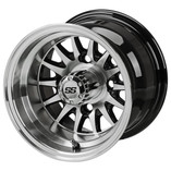 10 x 7 Machined/Black 14-Spoke Wheel