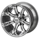10 x 7 Machined/Gunmetal Gray Casino Wheel