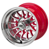 10 x 7 Machined/Red 14-Spoke Wheel
