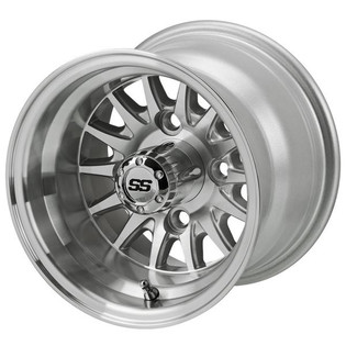 10 x 7 Machined/Silver 14-Spoke Wheel