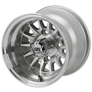 10 x 7 Machined/Silver 14-Spoke Wheel